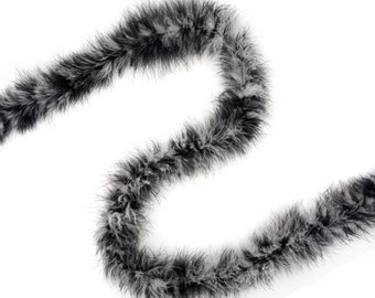Black and White Mix Marabou Feather Boas 20 Grams 2 Yards For DIY Art Crafts Carnival Fashion Halloween Costume Design Home Decor ZUCKER®