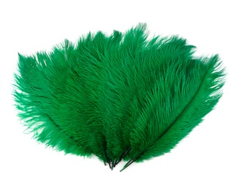 """Ostrich Feathers 13-16"""" EMERALD Green - For Feather Centerpieces, Party Decor, Millinery, Carnival, Fashion & Costume ZUCKER®"""