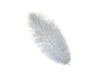 "12 SILVER 13-16"" Ostrich Feathers - Perfect for Medium Feather Centerpieces & Bouquets, Party Decor, Millinery and Costume Design ZUCKER®"