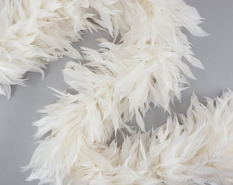 Fancy Feather Boa, White Goose Feather Boa 2 Yards For Party Favors, Kids Craft & Dress Up, Dancing, Wedding, Halloween, Costume ZUCKER®