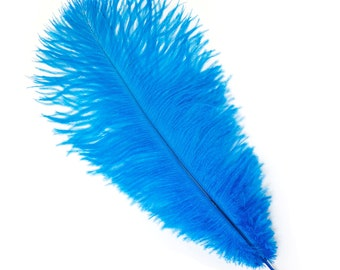 "DARK TURQUOISE Bulk 13-16"" Ostrich Feathers 1/4LB For Feather Centerpieces,Party Decor,Millinery,Carnival,Fashion and Costume Design ZUCKER®"