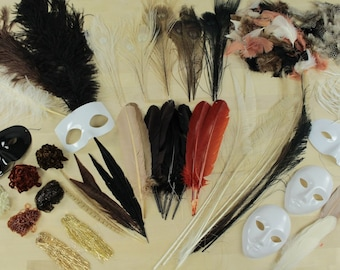 NATURAL Crafter Assortment Kit - For Arts, Craft, DIY, Costume, Millinery, Cosplay and Fashion Design ZUCKER®