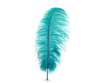 "12 TEAL 17""+ Ostrich Feathers 1DZ - Perfect for Large Feather Centerpieces, Party Decor, Millinery, Carnival & Costume Design ZUCKER®"