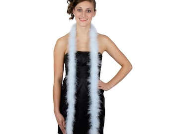 LTBLUE Marabou Feather Boas 6FT - For DIY Art and Crafts, Carnival, Fashion, Halloween Costume Design, Home Decor and more ZUCKER®