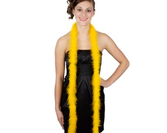 GOLD Marabou Feather Boas 6FT - For DIY Art and Crafts, Carnival, Fashion, Halloween Costume Design, Home Decor and more ZUCKER®