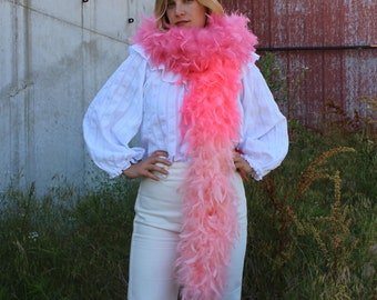 120 Gram Chandelle Feather Boa Ombre Pink 2 Yards For Dress Up, Dancing, Halloween, Costume ZUCKER®