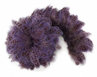 1 YARD LAVENDER Ringneck Pheasant Plumage - For Millinery, Jewelry Making, Carnival & Cultural Arts Design ZUCKER®
