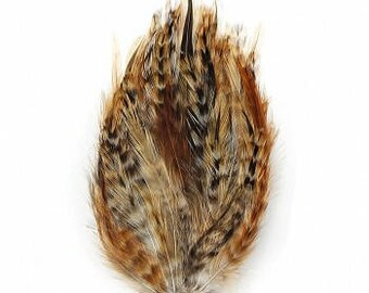 Bulk Natural Chinchilla Hackle Feather Pads 1DZ per package  B595CR ZUCKER®