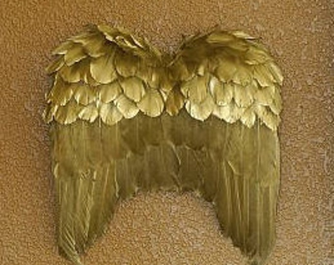 Featured listing image: Gold Angel Wing Decor Ornament - Fall Thanksgiving Decor, Unique Holiday Decorative Feather Wings ZUCKER®