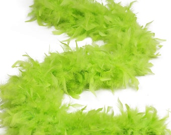 120 Gram Chandelle Feather Boa Lime Green 2 Yards For Party Favors, Kids Craft & Dress Up, Dancing, Wedding, Halloween, Costume ZUCKER®