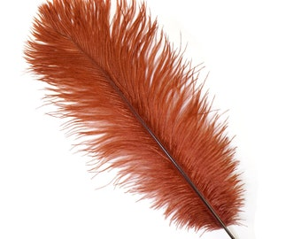 """COPPER Bulk 13-16"""" Ostrich Feathers 1/4LB - For Feather Centerpieces,Party Decor,Millinery,Carnival,Fashion and Costume Design ZUCKER®"""