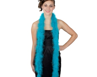 AQUA Marabou Feather Boas 6FT - For DIY Art and Crafts, Carnival, Fashion, Halloween Costume Design, Home Decor and more ZUCKER®