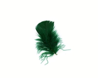 Turkey Feathers, Hunter Green Loose Turkey Plumage Feathers, Short T-Base Body Feathers for Craft and Fly Fishing Supply ZUCKER®
