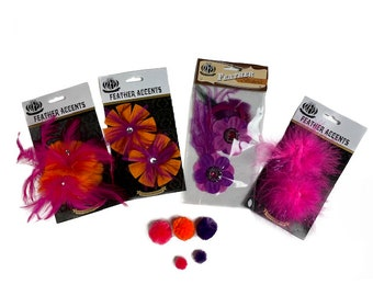 DIY Feather Flower Power Hair/Hat Accessory Kit -  ZUCKER®