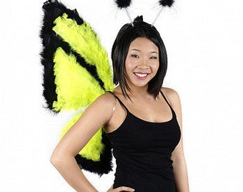Glows under a Black Light Costume Butterfly Wings - Day-Glo Butterfly for Halloween, Cosplay, Festivals, Parties & Special Events ZUCKER®