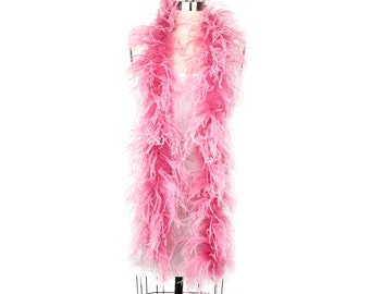 2 Ply Ostrich Feather Boa DUSTY ROSE 2 Yards For Fashion, Accessory, Halloween, Costume Design, Dress Up, Dancing, Stage Performance ZUCKER®