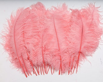"""Pink Potpourri Ostrich Feather Tips, 15-18"""" Ostrich Tails 25 Pieces for Millinery & Floral Design, DIY Costume, Carnival, Mardi Gras ZUCKER®"""