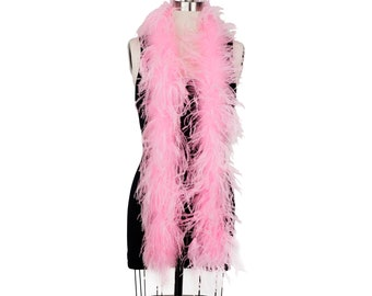 CANDY PINK 2 Ply Ostrich Feather Boas -  Ostrich Feather Boa for Fashion, Costume Design and Special Events - 2 Yards (6 Feet) ea ZUCKER®