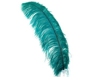 "TEAL 25 Large Ostrich Feathers 17-25"" 25pc/pkg - For Feather Centerpieces, Party Decor, Millinery , Carnival , Costume ZUCKER®"