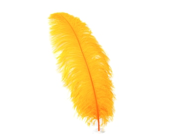 "MANGO 25 Large Ostrich Feathers 17-25"" 25pc/pkg - For Feather Centerpieces, Party Decor, Millinery , Carnival , Costume ZUCKER®"