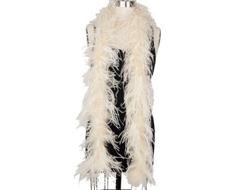 IVORY 2 Ply Ostrich Feather Boas -  Ostrich Feather Boa for Fashion, Costume Design and Special Events - 2 Yards (6 Feet) ea ZUCKER®