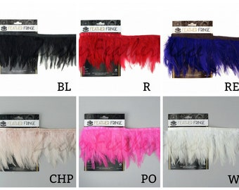 1YD Dyed Hackle Feather Fringe - Fringe for Costume, Fashion & Millinery Design  ZUCKER®