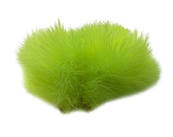 FLUORESCENT CHARTREUSE Strung Marabou Turkey Feathers - For Fly Fishing, Fly Tying, D.I.Y Arts and Crafts ZUCKER®