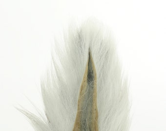 Deer Tails Dyed (BW) over Natural - For Fly Fishing, Fly Tying ZUCKER®