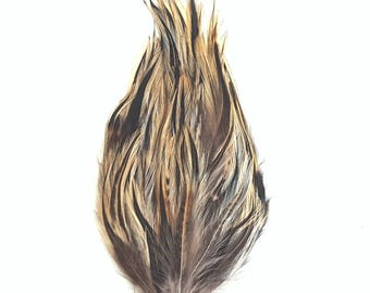 Bulk Natural Badger Hackle Feather Pads 1DZ per package P595B ZUCKER®