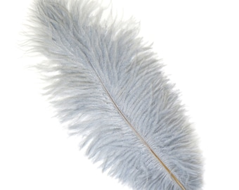 """SILVER Bulk 13-16"""" Ostrich Feathers 1/4LB - For Feather Centerpieces,Party Decor,Millinery,Carnival,Fashion and Costume Design ZUCKER®"""