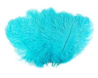 """Ostrich Feathers 13-16"""" LIGHT TURQUOISE For Feather Centerpieces,Party Decor,Millinery,Carnival,Fashion and Costume Design ZUCKER®"""