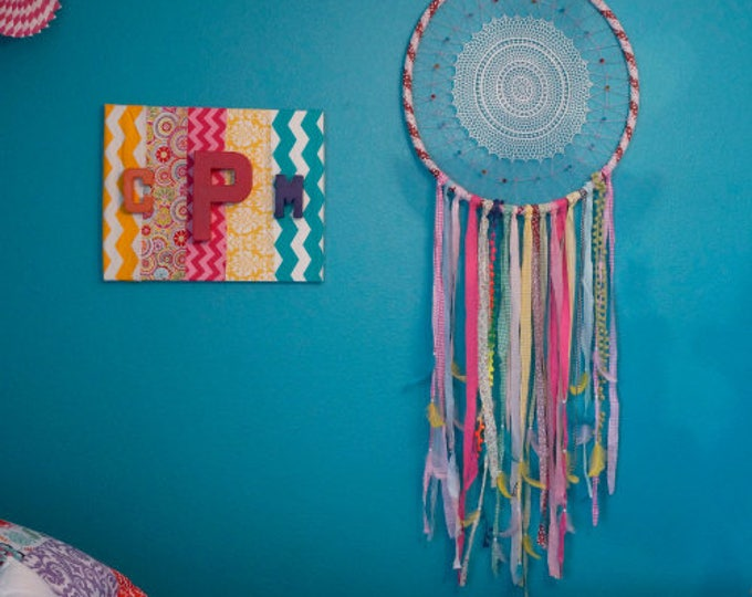 Featured listing image: Confetti Dream Catcher - For Teens Bedroom and Dorm Decor, Great Housewarming Gift ZUCKER™