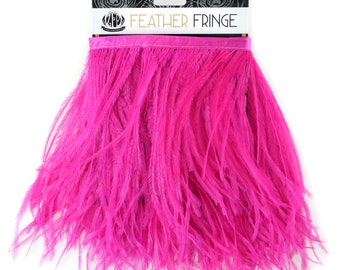 SHOCKINGPINK 1 YARD Ostrich Feather Fringe - For Bridal, Carnival Costume, Cosplay, Millinery, Fashion Design and Decor  ZUCKER®
