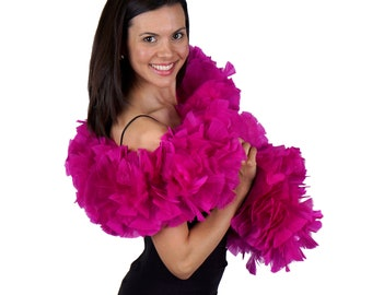 VERY BERRY Turkey Feather Boa - Large Economy Feather Boa for Carnival, Halloween, Costume Party, Burlesque & Showgirl Costume ZUCKER®