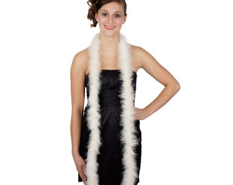 IVORY Marabou Feather Boas 6FT - For DIY Art and Crafts, Carnival, Fashion, Halloween Costume Design, Home Decor and more ZUCKER®