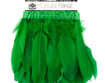 KELLY 1 Yard Parried Goose Pallet Feather Fringe - For DIY Art Crafts, Carnival Costume, Cosplay, Millinery & Fashion Design ZUCKER®