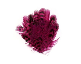 Pheasant Feather Pad, Pink Feather Pad, Mini Feather Patch for DIY Feather Fascinator, Millinery, Costume and Carnival Design  ZUCKER®