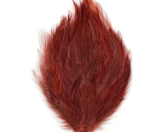 COPPER 12 Dyed Hackle Pads - For Feather Crafts, Fascinators, Millinery, Fashion, Costume and Carnival Design ZUCKER®