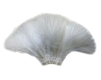 WHITE Strung Marabou Turkey Feathers - For Fly Fishing, Fly Tying, D.I.Y Arts and Crafts ZUCKER®