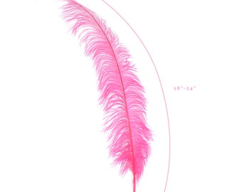 "Ostrich Feathers, Pink Orient Ostrich Feather Spads 18-24"", Centerpiece Floral Supplies, Carnival & Costume Feathers ZUCKER®"