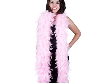 120 Gram Chandelle Feather Boa Candy Pink 2 Yards For Party Favors, Kids Craft & Dress Up, Dancing, Wedding, Halloween, Costume ZUCKER®