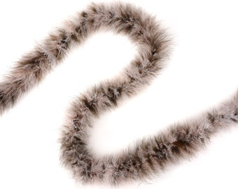 Marabou Feather Boas 20 Grams 2 Yards Mixed - Coffee Cream - For DIY Art Crafts Carnival Fashion Halloween Costume Design Home Decor ZUCKER®