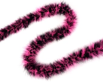 Pink and Black Mix Marabou Feather Boas 20 Grams 2 Yards For DIY Art Crafts Carnival Fashion Halloween Costume Design Home Decor ZUCKER®