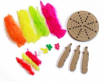 DIY Dream Catcher Kit, Dream Weaver NEON, Dreamcatcher Craft Kit, Craft Kits for Kids, Kids Crafting Kit, Baby Shower Activity ZUCKER®