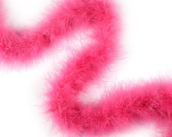 RASPBERRY Marabou Feather Boas 20 Grams 2 Yards For DIY Art Crafts Carnival Fashion Halloween Costume Design Home Decor ZUCKER®