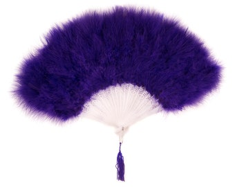 REGAL Marabou Feather Fans - Photobooth Accessories, Perfect for Great Gatsby, Roaring 20's Theme Costume Parties & Halloween Events ZUCKER®
