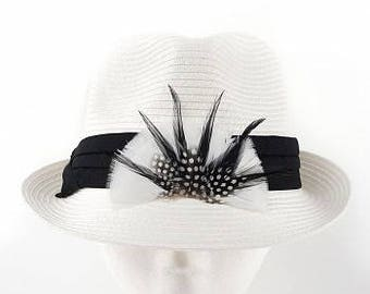 Feather Hat Trim/Crown - BP5504--BL-W-N ZUCKER®