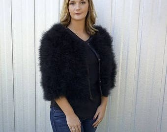 Marabou Feather Jacket - G82 (SM-MED)  ZUCKER® Feather Place Original Designs