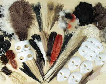Large Feather Craft Kit NATURAL tone Feathers for Adults and Kids Crafting Projects - Master Crafter Assortment Kit ZUCKER®