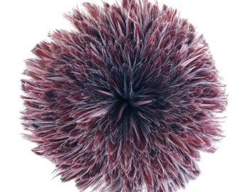 """Rooster Feathers, 4-6"""" AMETHYST Rooster Hackle Strung Craft Feathers ZUCKER®"""